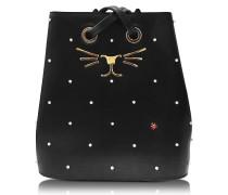 Feline Bucket-Tasche in schwarz