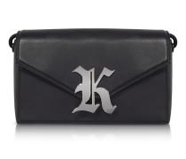 Gothic K Devine Leather Shoulder Bag