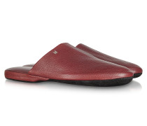 Amerigo - Reiseslippers aus Nappaleder in burgundfarben mit Etui
