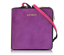 Pablito Purple Velvet Shoulder Bag