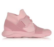 High Top Sneaker aus Neopren in rosa