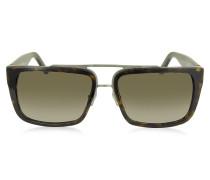 MARC 57/S Herren Sonnenbrille im rechteckigen Pilotenstlye aus Acetat
