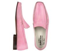 Handgefertigte Lederhalbschuhe in pink