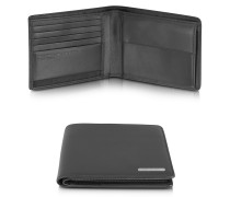 CL 2.0 - Portemonnaie aus schwarzem Leder