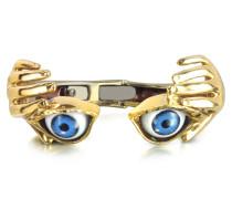 Armband aus Bronze mit blauen Augen