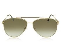RICK FT0378 28J Sonnenbrille im Pilotenstyle in gold-braun