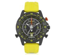 NSR 103 Tide Compass Herrenuhr aus Edelstahl mit Kautschuk-Armband in gelb
