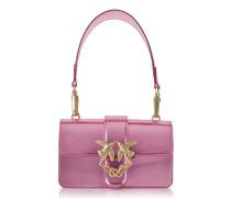 Mini Love Stars Azalea Pink Laminated Leather Shoulder Bag