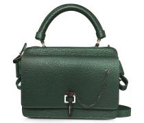 Petit Malher Kameratasche aus Leder in dunkelgrün