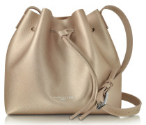 Pur & Element Champagne Pink Saffiano Leather Bucket Bag