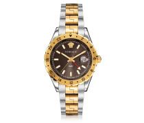 Hellenyium GMT Stainless Steel Men's Watch w/Greek Inserts