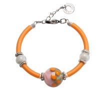 Papaya 2 Orange Armband aus Muranoglasperlen