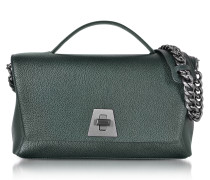 Bottle Green Cervocalf Anouk Day Bag w/Detachable Chain