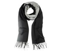 Stola aus Wolle und Kaschmir in schwarz/grau