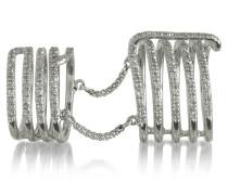 Seven Bands Ring aus Weißgold mit Diamanten