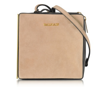 Pablito Nude Velvet Shoulder Bag
