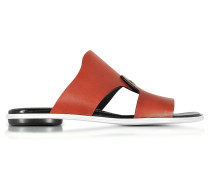 Sienna flache Sandale aus Leder