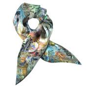 Delicias Mundi Print Silk Square Scarf
