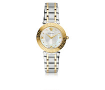 Daphnis Two-Tone Stainless Steel Women's Watch w/Greek Engraving
