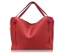 Hill Duo Bright Red Leather Extra Large Handbag
