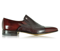 Metz Slip On Loafer aus Leder in burgundfarben