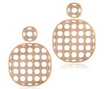 Sventies - Ohrringe aus Bronze mit Gold und Glitzer