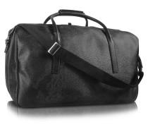 1a Prima Classe - Reisetasche mit doppeltem Reißverschlussfach mit Geomuster in schwarz