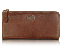 Story Donna Brown Leather Zip Wallet