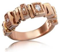 Sole - Ring aus 18kt Rosé-gold mit Diamanten