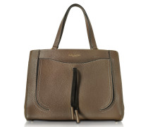 Maverick Teak Leather Tote Bag