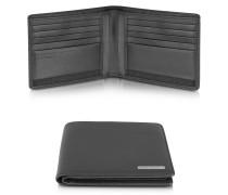 CL 2.0 - Portemonnaie aus echtem schwarzem Leder