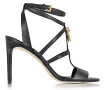 Antoinette High Heel Sandale aus Leder in schwarz