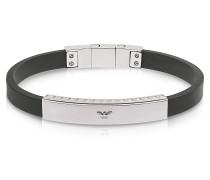 Herren-Armband aus Edelstahl und Kautschuk