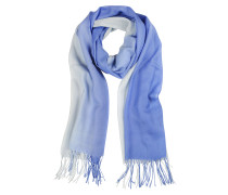 Stola aus Wolle und Kaschmir in blau/hellblau