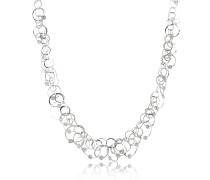 Scintille Anniversary - Halskette aus 18k Weißgold mit Diamanten