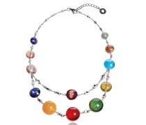 Redentore 3 - Halskette Multicolor aus Muranoglas und Silber