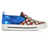 Mercer Sneaker aus Leder mit glitzernden Pailletten