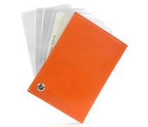 Classica - Kartenetui aus Kalbsleder in orange