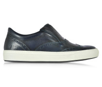 Urban Dark Blue Leather Men's Sneaker