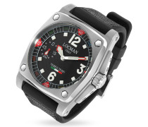Teseo Tesei - Armbanduhr mit mechanischem Laufwerk in schwarz