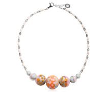 Papaya 2 Choker Halskette aus Muranoglas in pastellfarben
