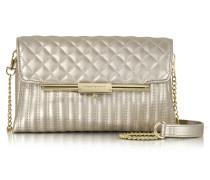 Laminated Quilted Eco Leather Clutch