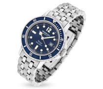Tango Uhr mit Datumsanzeige und Armband aus Edelstahl