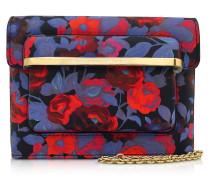 Gardenia MVK Mini Schultertasche aus Leder mit Blumensprint