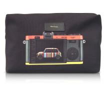 Leica Herren-Waschtasche aus Canvas mit Print