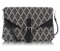 Ikon Coated Canvas and Leather Mini Clutch