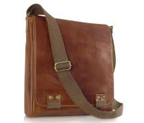 Messenger-Tasche aus echtem italienischem Leder in braun