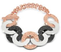 R-Zero Armband aus Edelstahl und vergoldeter Bronze in rosé