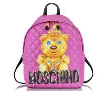 Teddy Bear Rucksack aus gestepptem Nylon in pink