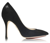 Bacall Black Suede Pump